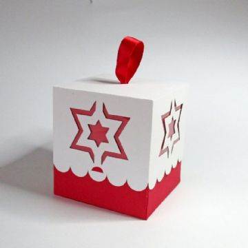80mm Star Bauble Box Template